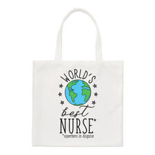 World's Best Nurse Small Tote Bag - Funny Gift Present Shoulder Shopper