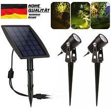 2x LED Solarlampe mit Spotlicht Mini Gartenleuchte IP65 Solarstrahler für Außen