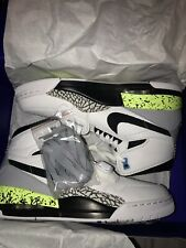 "Nike Air Jordan Legacy 312 White/Volt ""Command Force"" Brand New Size Uk8.5"