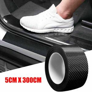 Carbon Fiber Protector Sticker Sill Scuff Cover Car Door Body Auto Scratch Strip