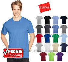 Hanes Nano T-Shirt Light Weight Ringspun Cotton Mens Tagless Soft Solid Tee 4980
