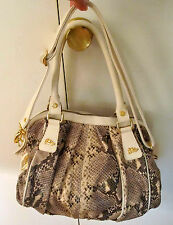 Snakeskin-embossed leather purse/satchel by Jenrigo (made in Italy)