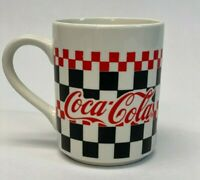 Coca Cola Coffee Mug Cup Black White Red Checkered 1996 Gibson 16 oz #41A
