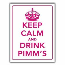 KEEP CALM AND DRINK PIMM'S  METAL SIGN WALL PLAQUE poster art print hanging