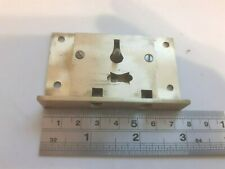 Brass Box-Chest-Trunk Lock 75mm x 46mm 1 Key (1769) No Keep
