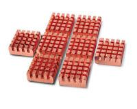 8pcs Copper Heat Sink Adhesive Back For VGA GPU DDR DDR2 DDR3 RAM Memory Cooling