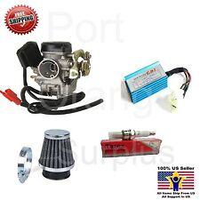 GY6 Carburetor 50cc Scooter Roketa Sunl JCL Taotao Baja 18mm CDI Air Filter Plug