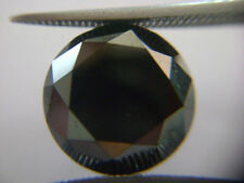 0.94 ct 5.95 mm natural loose jet black diamond round brilliant cut africa