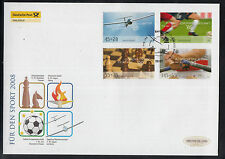 K 01 ) Germany 2008 beautiful Large FDC  - Chess, Soccer, Olympic Games