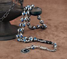 Islamic Prayer Beads, Real Erzurum Oltu Stone Tesbih, masbaha, 8x12mm, 33 beads