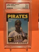 1986 Topps Traded #11T Barry Bonds RC PSA 9 (OC) MINT Pirates