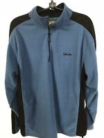 "Stillwater Cabela's 1/2 zip fleece Men's XL chest 44"" shoulders 21"" Blue Black"
