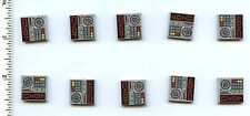 Star Wars LEGO x 10 Tile 2 x 2 with Aurebesh 'LOCK' Alien Characters and Key
