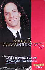 KENNY G '99 CLASSICS IN THE KEY OF G ASIAN PROMO POSTER