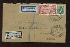 JAMAICA 1939 REG.AIR to GB..MANDEVILLE..WILLIAMS 9 1/2d