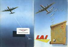 LAI Linee Aeree Italiane e Servizio Aviazione ESSO con cartina Italia ripiegata*