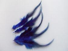 20pz piume 13cm colore blu scuro per orecchini