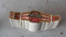Vintage Lot of 100 Unused Sun Maid Cigar Bands