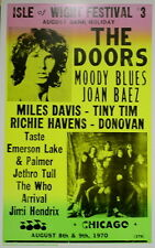 Isle of Wight Music Festival Poster 1970 The Doors - Moody Blues - Hendrix ...