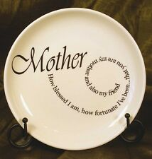 MOTHER PLATE with METAL STAND Ceramic Mother's Day Gift Decorative In Law Love