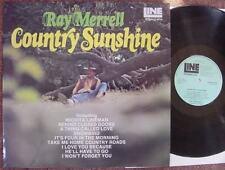 Ray Merrell país Sunshine firmado 1970s Reino Unido Lp Joe Henry Rizado Clayton