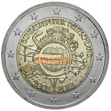 2 EURO COMMEMORATIVO GERMANIA 2012 10° Anniversario