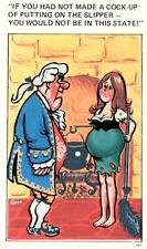 Sapphire Comic  Postcard Pregnant   no 187 Unused Very Good