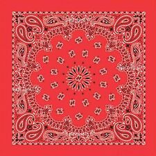 Red Paisley Bandana 21 In. X 21 In.