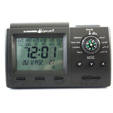 Azan MusIim Islamic Qibla Clock Watch Prayer Compass alarm Ei light Al-harameen