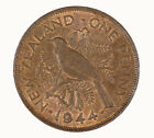 New Zealand 1944 Penny Coin CHOICE UNC