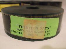 THIRTEEN DAYS (2000) 35mm Movie Trailer Film John F. Kennedy NEW LINE CINEMA W@W