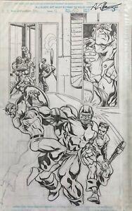 Captain America: Sentinel of Liberty Original Comic Art Pencils Issue #12 Pg #21