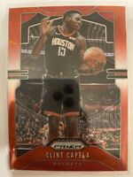 2019/20 Panini Prizm Ruby Red Wave PRIZM SP CLINT CAPELA Rockets #110