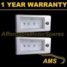 2x per AUDI A3 A4 A6 A8 S3 S4 S6 S8 ALLUMINIO 2 Bianco CREE LED Numero Targa Lampada
