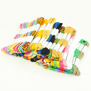 12 X Skeins Coloured Embroidery Thread Cotton Cross Stitch/Braiding/Craft Sewing