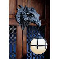"Marshgate Castle Dragon Sculptural Design Toscano 17"" Electric Wall Sconce"