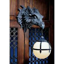 "Design Toscano 17"" Marshgate Castle Dragon Sculptural Electric Wall Sconce"
