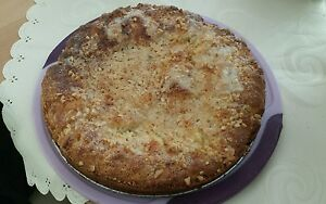 Leckerer selbstgebackener Butterzucker-Mandelkuchen ca.600 gr.