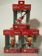 Hallmark 2015 Charlie Brown Linus Snoopy Set of 3 Ornaments 50 Yrs Peanuts NEW