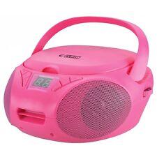 Boombox Portable Lecteur CD avec FM AM Radio Rose