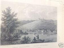 Biedermeier Stich Schloss Johannisberg Rhein Geisenheim Martini Toussaint ~1850