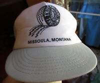 Vtg 80s TRIPP BROS TRUCKIN MONTANTA GRAY MESH Hat Cap Snap Back Logo Farmer