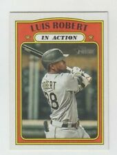 (8) Luis Robert 2021 TOPPS HERITAGE IN ACTION CARD LOT #34 CHICAGO WHITE SOX