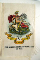 B.D.V. Cigarettes Silk- THE NORTHUMBERLAND FUSILIERS 5th Foot Silk (apx7x5 cm)