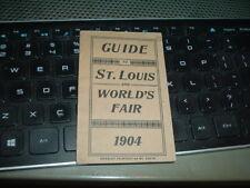 1904 St. Louis Browns Cardinals Baseball Base Ball Schedule World's Fair Booklet
