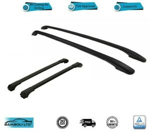 For Ram Promaster City Roof Side Rails Cross Bars Set 4 Pieces Black 2015-2020
