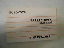 1993 TOYOTA TERCEL FACTORY COMPLETE OWNERS MANUAL INSTRUCTIONS BOOK