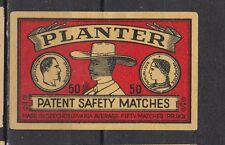Ancienne étiquette allumettes Tchécoslovaquie  SF30 Planteur