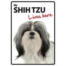 Shih Tzu Lives Here A5 Plastic Sign