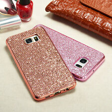 Bling Diamond Glitter TPU Rose Gold Case Cover For Samsung Galaxy S9 Plus